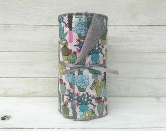 Unpaper towels, reusable paper towels, cloth paper towels, snapping paper towels - Succulents // Cactus// Gift //Eco Friendly //