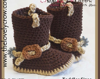 Cowboy Boots Crochet Pattern TODDLER