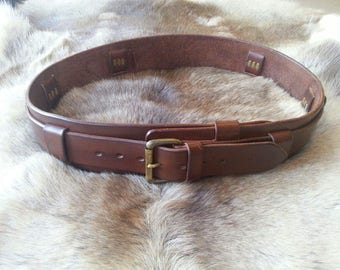 Leather Bush Craft Utility Belt, tool belt     FREE SHIPPING USA