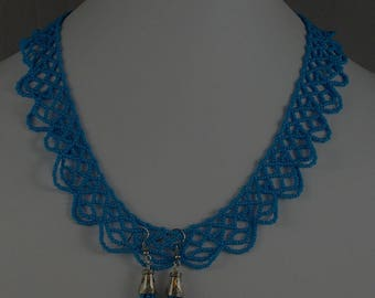 Blue Netted Necklace