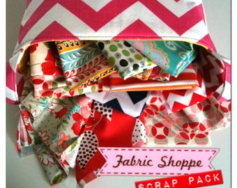 Huge Priority box of Fabric Scraps of designer quilt or craft Fabric Shoppe fabrics-8 pounds of fabric- under 6 dollars per yard