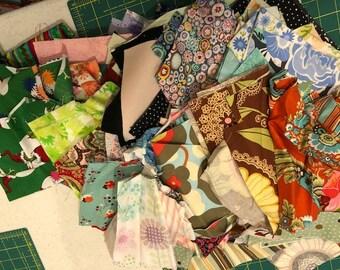 Fabric Scrap LOT 3 | Amy Butler Lotus | Grinch Flea Market Fancy and More