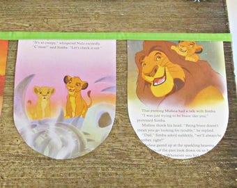 The Lion King Birthday Bunting - Banner Party Baby Shower - Disney Simba Mufasa Garland