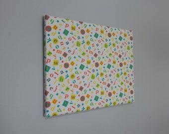 Alphabet Fabric Frame for Kids' Rooms