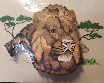unframed woon lion puzzle picture 11 x 14