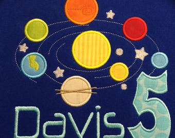 Solar System Birthday Shirt