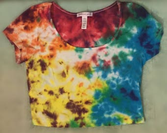 Sold** Women's size large rainbow crop top