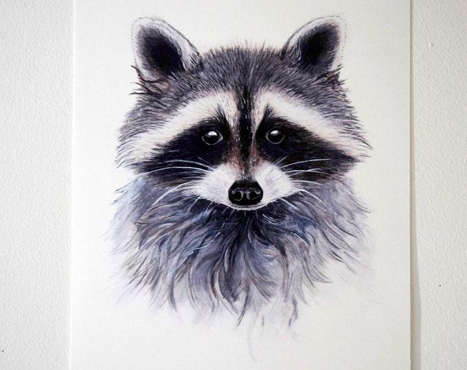 Wasbeer kaart/ miniposter A5: 14,8 x 21 cm