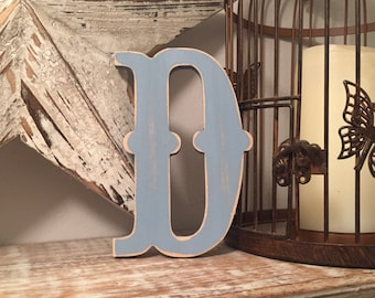 Painted Wooden Letter - Large D, Circus Font, 40cm high, 16 inch, any colour, wall letter, wall decor, 18mm