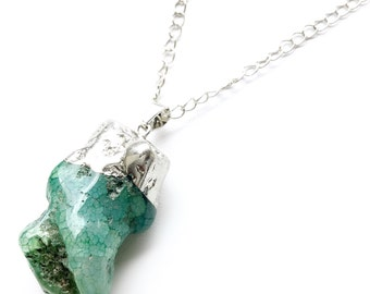 "The ""Joey"" Aquamarine Quartz Necklace. Fast Shipping with Tracking For US Buyers."
