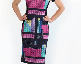 Periodic table leggings chemistry leggings chemical periodic table dress periodic elements dress chemistry gift science dress geeky chemistry urtaz Images
