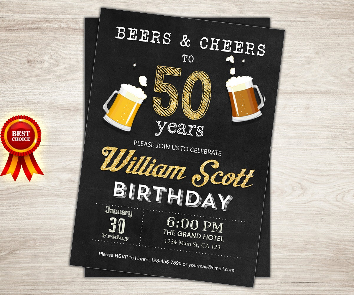 50th birthday invitation man male cheers to 50 years cheers zoom stopboris Image collections