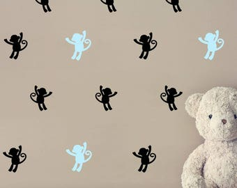 Monkey Wall Decal - Animal Wall Sticker - Kids Nursery Decor Wall Pattern | PP182