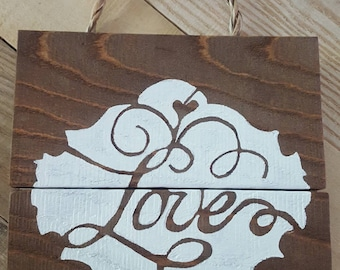 Hand painted love sign