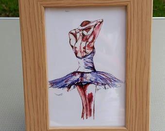 Blue swan in 6x4 frame