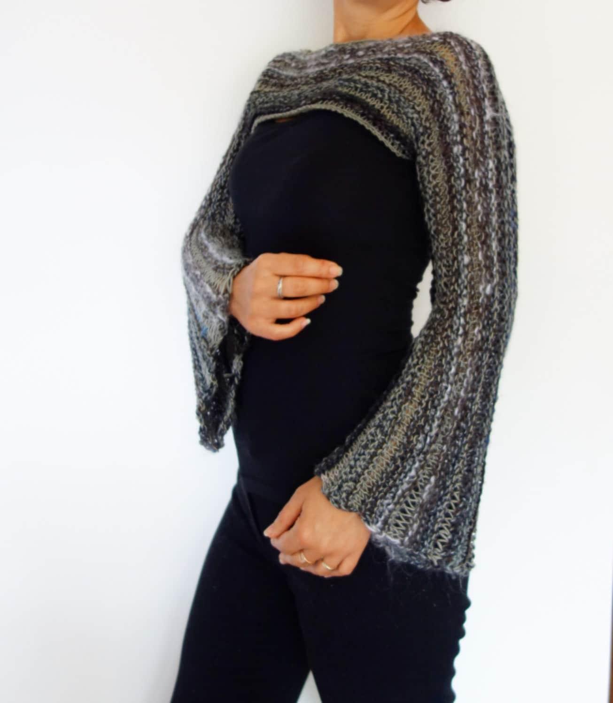 Top Knitting PATTERN - Cropped Bohemian Top/ Boho Knit Shrug/ Over ...