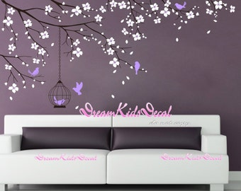 Nursery Wall Decal Wall Sticker Baby Nursery Decals Girls kids Room Decal-Cherry Blossoms Tree Decal-DK098