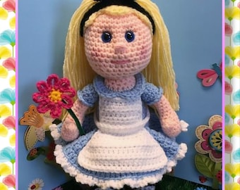 Alice in Wonderland (PDF pattern only, this is not the finished doll)