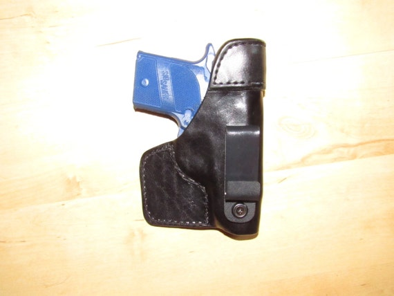 Leather Holster for Sig P938,  Taco style with steel reinforcment, concealed carry, EDC, IWB