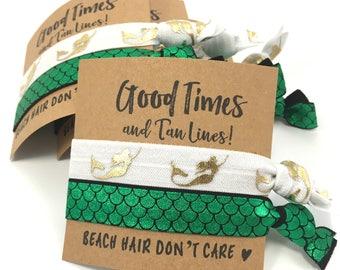 Mermaids | Bachelorette Party Hair Tie Favors | Mermaid Party Favors | Mermaid Birthday | Bachelorette Party | Mermaid Theme Party Favors
