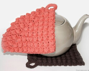 CROCHET PATTERN - Textured Pot Holder - Instant Download (PDF)