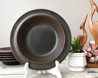 Vintage Arabia Ruska, Soup Plates Set, 60's Mid Century, Finnish Kitchenware , Ulla Procope Design for Arabia Finland