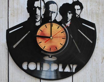 Coldplay Music Band Vinyl Record Wall Clock Fun gift Unique Home Decor