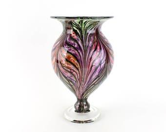 Hand Blown Art Glass Vase