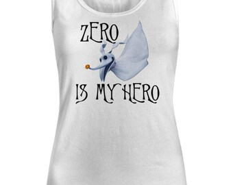 Nightmare Before Christmas tank top, Halloween or Christmas Shirt, Zero is my Hero