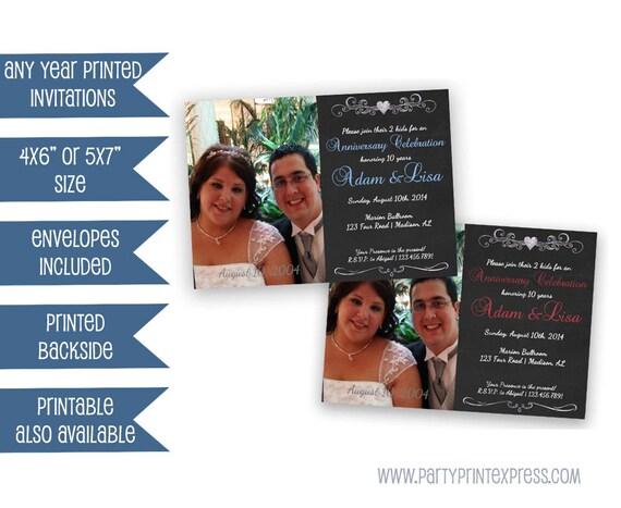10th Wedding Anniversary Invitations: Items Similar To Photo Wedding Anniversary Invitations