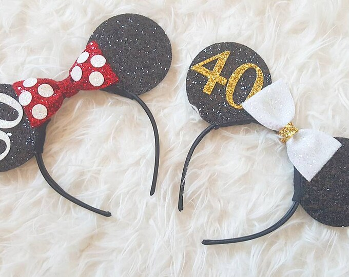 Birthday Mouse Ears | Mouse Ears |Birthday | 60th Birthday | 40th Birthday | Birthday Ears | Ears | Mouse Ears