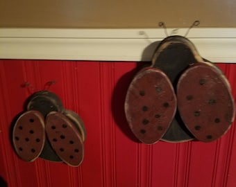 Set of two Primitive Lady Bugs