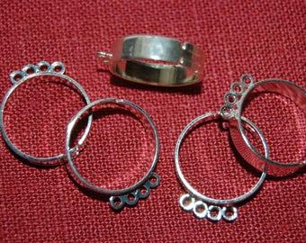 3 frames 4 silver rings adjustable rings