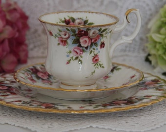Reserved for C. Set of Two Royal Albert Cottage Garden trios demitasse cup saucer and plate