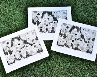 "Amoeba Fission Prints Limited Edition ""Fission II"""