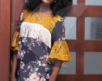 AMAKI Fringe Dress