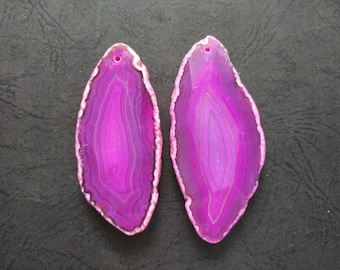 Extra Large Giant Faceted Hot Pink Agate Pendant  -As Pictured -#160926024