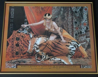 Marilyn Monroe Theda Bara Avedon Hand Signed!Authentic Vintage 83 Limited Edition Signed By Richard Avedon Archivally Framed! VERY RARE!SALE