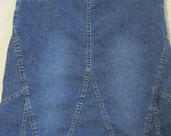 Jean Skirt, by Defuze, USA, Size: 5/6, Vintage