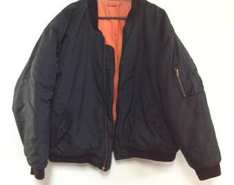 Vintage bomber jacket Phenom orange lining