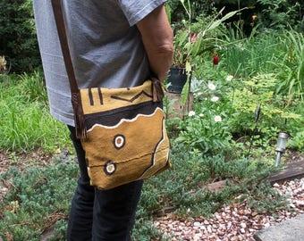 Sale African Mud Cloth Crossbody | One of a kind | Festival Bag | Market Bag | Unique Bag | Crossbody Bag Under 150 | African Mudcloth