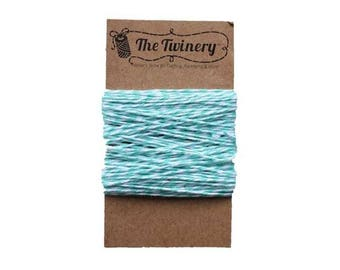 Teal and White Bakers Twine - Caribbean Twist - 15 Yard Bundle