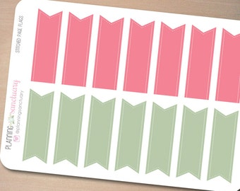 Stitched Page Flags 1 || Reminder Planner Stickers Perfect for Erin Condren, Kikki K, Filofax and all other Planners
