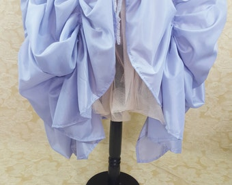 Lilac Super Full Cabaret Princess Midi Length Tie On Bustle Skirt-One Size Fits All