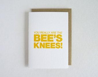 Vous êtes vraiment des genoux de l'abeille ! – Typogravure
