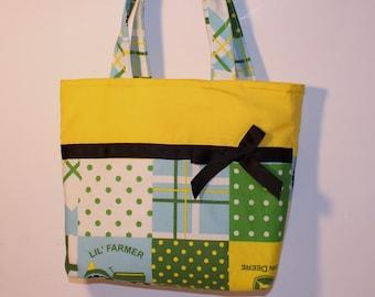 Girls John Deere Purse, Handmade Purse, Shoulder Bag, Bible Tote, Small Tote , Little Girls Purse, Snack Bag, Diaper Bag, Party Favor