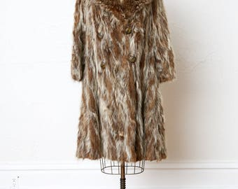 Raccoon Fur COAT 1940s . Edward Gorey Style