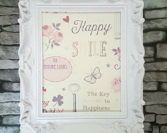 Inspirational quote picture, inspirational quote frame, inspirational quote, girls bedroom decor, vintage style frame