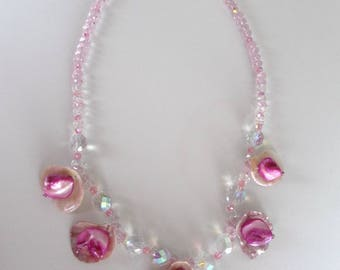 Necklace Pearl petals
