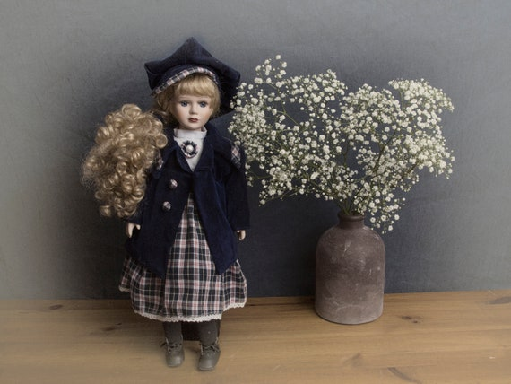 Vintage doll, European collectible doll